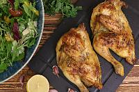 Roasted Poussin with Garlic, Lemon and Rosemary
