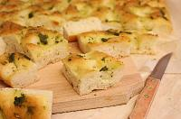 Focaccia With Pesto And Mozzarella