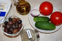 Traditional Greek Salad - Horiatiki - Step 1