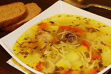 Zeama, traditional chicken soup from Moldova