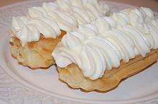 Eclairs with Vanilla Cream