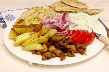 Greek Chicken Gyros Plate