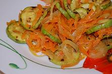 Sauteed Carrots with Zucchini