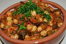Aubergine and Chickpea Stew