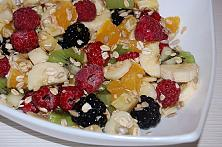 Healthy Fruit Cereal with Seeds