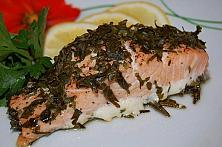 Baked Salmon in Parsley Crust