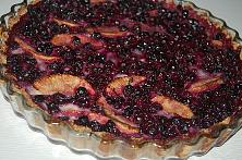 Apple and Berry Tart with Oat Crust