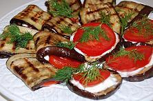 Eggplant Appetizer with Tomato and Garlic