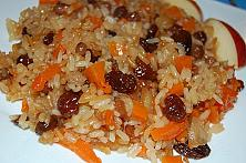 Baked Sweet Rice with Apples and Pumpkin