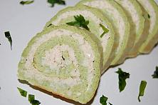 Broccoli and Chicken Roulade