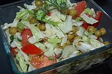 Cabbage, Peas and Tomatoes Salad