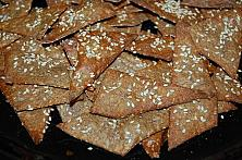 Crispy Rye and Seeds Crackers