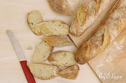 French Baguette – simple, no-knead recipe