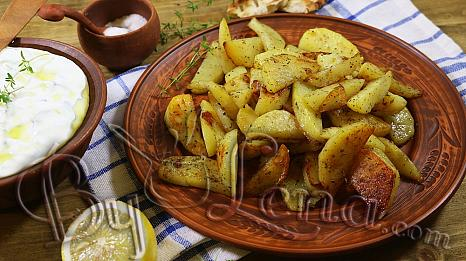 Lemon Greek Potatoes