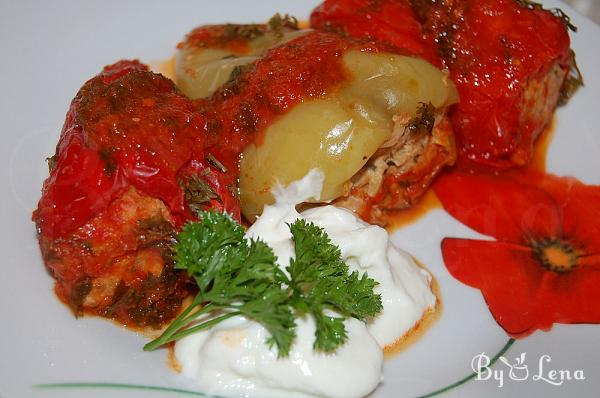 Mince Meat Stuffed Peppers without Rice