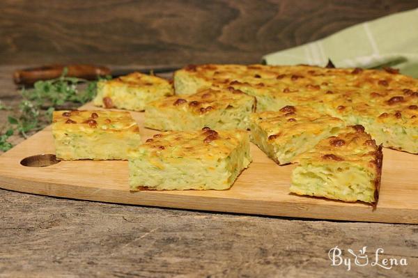 Savory Zucchini Cheese Bars