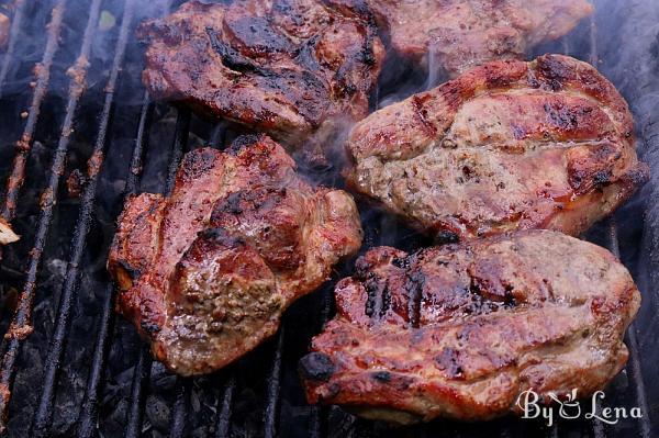 Grilled Pork Shoulder Steaks