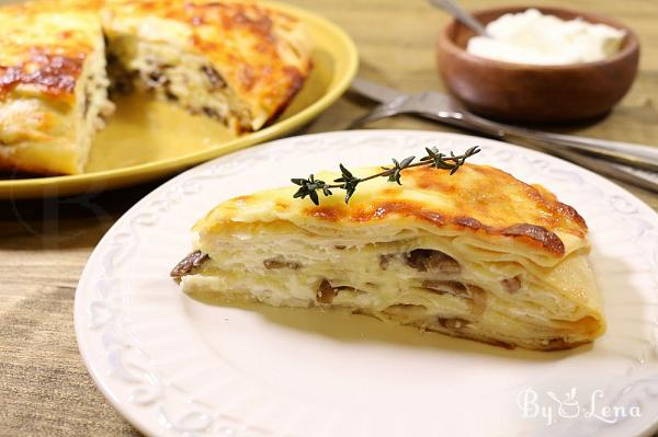 Crepe Lasagna with Mushrooms and Chicken