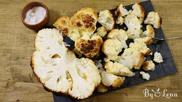 Whole Roasted Cauliflower with Butter