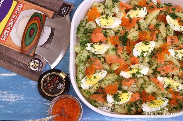 Egg and Salmon Potato Salad