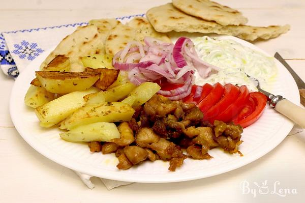 Greek Chicken Gyros Plate