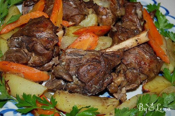 Oven-Baked Lamb with Vegetables