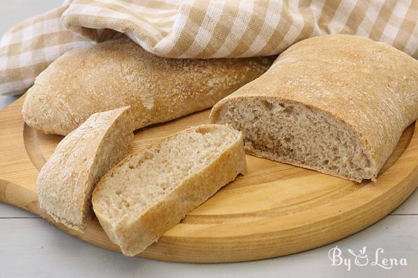 Easy No-Knead Ciabatta Bread