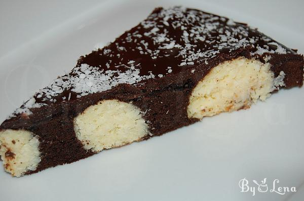 Chocolate Cake with Coconut Balls