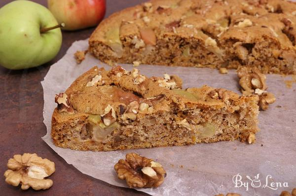 Easy Apple Carrot Cake with Walnuts