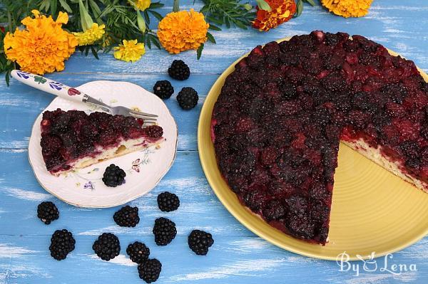 Blackberry Lemon Upside Down Cake