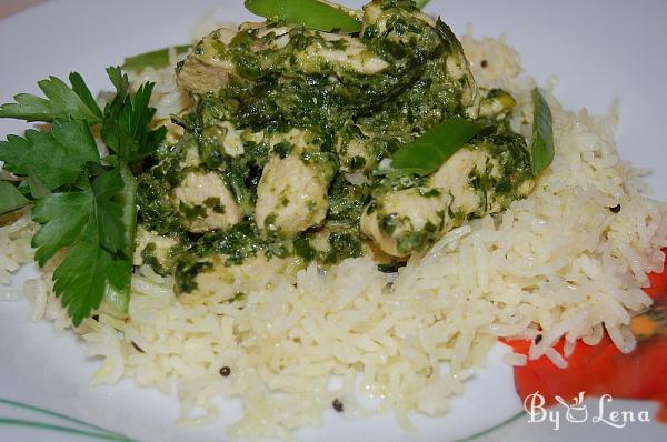 Spinach (Palak ) Chicken Curry