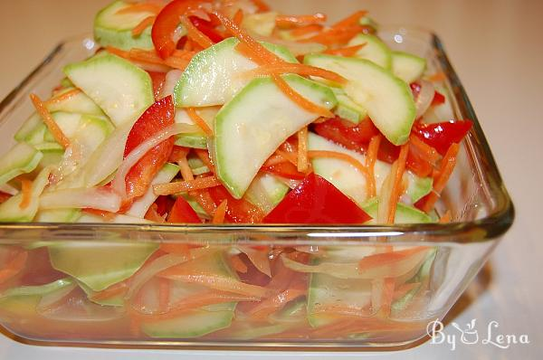 Pickled Zucchini and Vegetables Salad