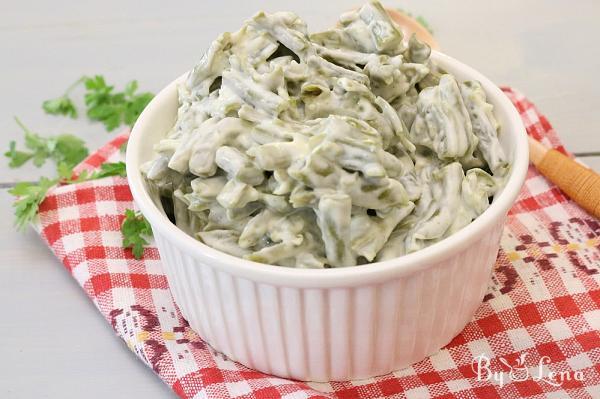 Green Bean Salad with Mayonnaise and Garlic
