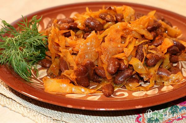 Sauteed Cabbage with Beans