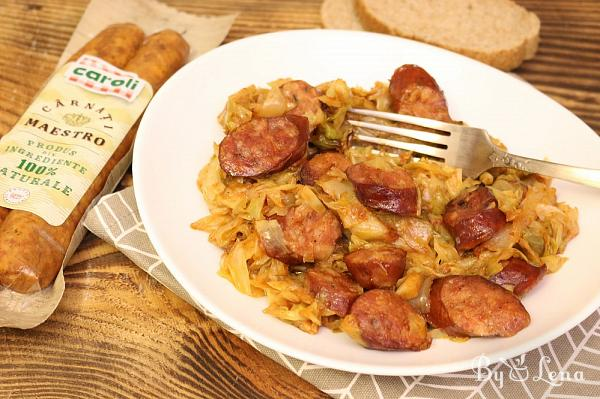 One Pan Cabbage and Sausage