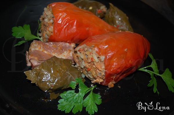 Rice and Meat Stuffed Peppers