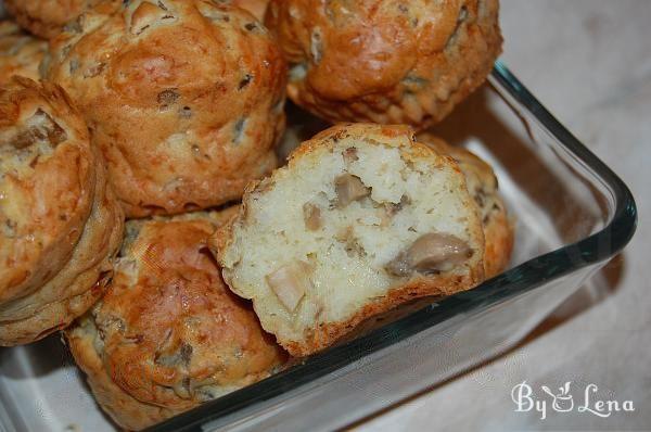Mushroom and Cheese Savoury Muffins
