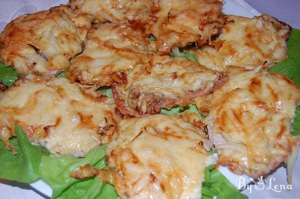 Baked Pork Chops with Cheese and Onion