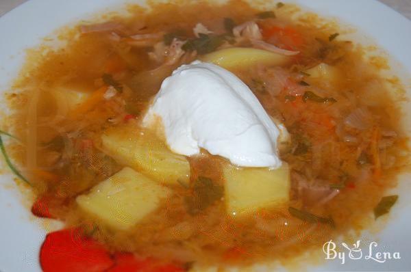 Russian Sauerkraut Soup - Schi